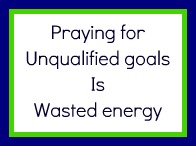 Prayer can be a waste of energy!