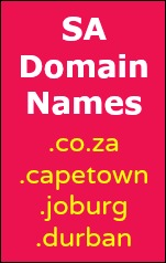 South African Domain Names: .co.za .captown .joburg .durban.